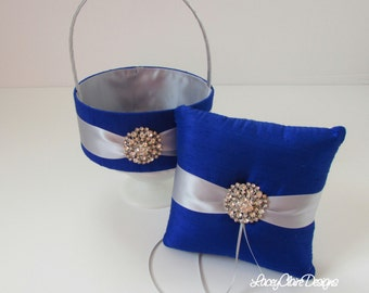 Ring Bearer Pillow and Flower Girl Basket Set - Custom Made
