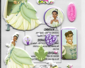 EK Success Brand -- Princess and the Frog -- Dimensional Stickers -- NEW (#1828)