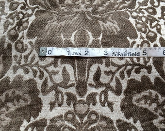 3 (THREE) YARDS  Brownish Goldish Olive-ish Chenille Upholstery material fabric pillows Christmas stockings craft sewing Cushions Couch F8