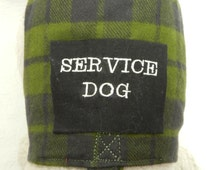 Blue Green Irish Plaid Business Vest SERVICE DOG Harness. Perfect Item for your Cat, Dog or Ferret. All Items Are Custom Made For Your Pet.