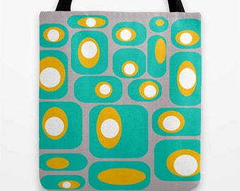 Tote Bag, Modern Tote Bag, Mod Tote Bag, Market Tote Bag, Retro Tote Bag. Shopping Tote Bag, Beach Tote, Geometric Tote  Bag, Stylish Tote