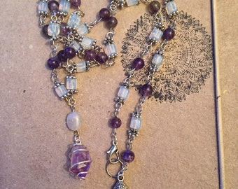 SALE! Amethyst Moonstone Flow Necklace