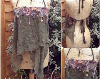 Psy Fairy, Woodland Pixie, Fairy Lace Halter Pixie Top
