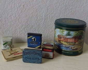 Tobacco Tin Collection. Six Tins.