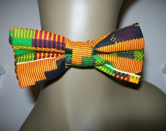 Kente #2 print bow ties/ Unisex African fabric bow tie/ African Accessories/ Kente bow ties for weddings and special occasions
