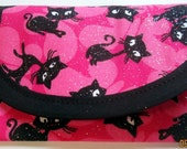 Bags & Purses Pouch Coin Purse Wallets Money clip Halloween Party Black Cats Glitter Fabric 6 x 3 Goody Bag Gift or Business card case