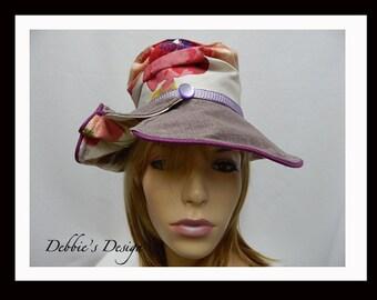 Women's Handmade Cloche Hat-65 - Women's Handmade Cloche Hats, Slouch Hat, Cloche Hat, Women's Cloche, accessories, Foldk Hat, Lightweight