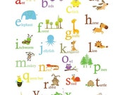 ON SALE 20% OFF Alphabet Poster -Primary Colors