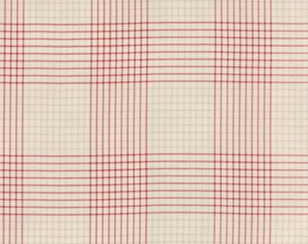 Miss Scarlet - Plaid in Stone Warm Red by Minick & Simpson for Moda Fabrics