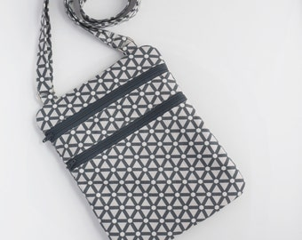 Gray Handbag, Crossbody Purse, Handmade Handbag, Zookaboo, Ready to Ship