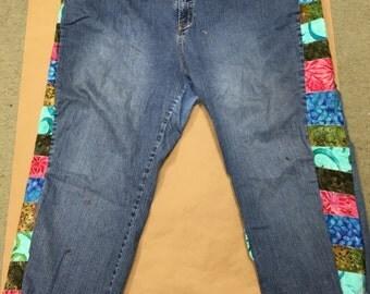 Plus Sized Hippie Jeans Batik with Small Leg Pocket