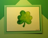 "ST. PATRICKS DAY Card, Original Handmade Watercolor (""Happy St. Patrick's Day"" Inside)"