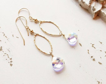 Dainty Crystal Earrings, Gold Crystal Earrings, Bridesmaids Earrings, Dainty Earrings, Bridal Jewelry, Everyday Earrings, Minimal Earrings