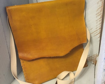 Long Leather Messenger