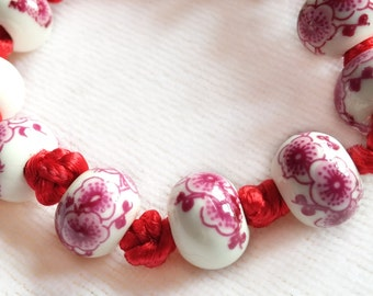 Sakura Cherry Knots Neck Choker