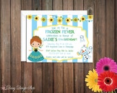Birthday Party Invitations - Frozen Summer Princess - Set of 20 with Envelopes