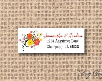 Return Address Labels - Wildflower Bunch - 120 self-sticking labels