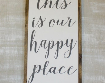 This is Our Happy Place - Framed