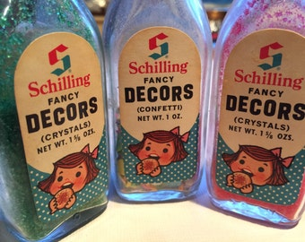 Sweet Collection of Vintage Schilling Fancy Decors
