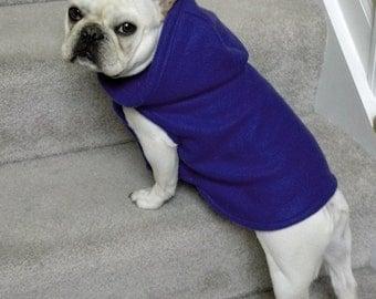 French Bulldog Pretty  Purple Fleece Hoodie