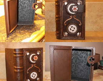 Secret Compartment, Hollow, Altered Book Safe with Celtic/Steampunk Style