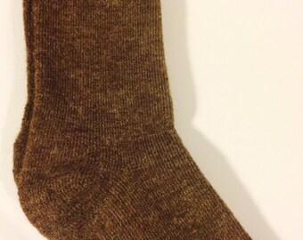 Alpaca Socks - Men's Coco Brown