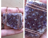 Wire Wrapped Amethyst Crystal Cluster Necklace