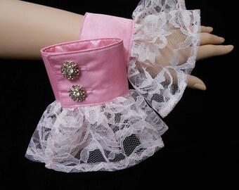 G034  Romantic Cuffs Lolita Wedding Bridal Fantasy  Made to Order