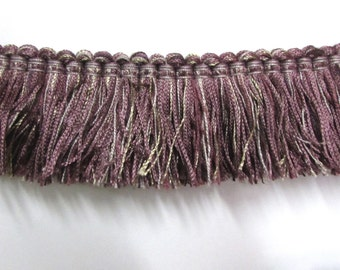 FRINGE in purple and silver  2 inch