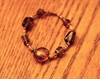 Handcrafted Bracelet, Brown Beaded Bracelet, Handmade Bracelet, Brown Bracelet, Hippie Jewelry
