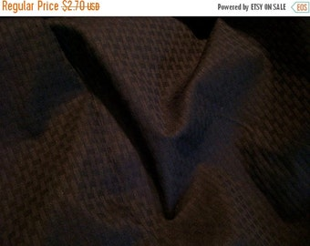ON SALE REMNANT--Black Jacquard Check Design Pure Cotton Fabric--1/2 Yard