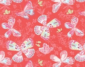 Aria by Kate Spain - Butterfly in Begonia (27230-11) - Moda - 1 Yard