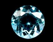 TOPAZ (30988) - Sky Blue 11mm Round Cut Brazilian Topaz - Faceted