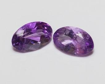 AMETHYST (30883) PAIR ( 2 Gems) Purple Oval 5 x 3mm (Quartz) - Faceted