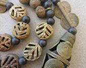 Mixed African Brass Beads
