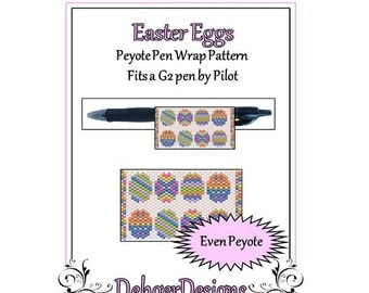 Bead Pattern Peyote(Pen Wrap/Cover)-Easter Eggs