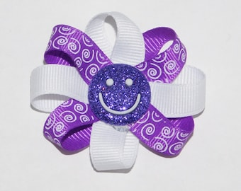 Purple Dog Hair Bow