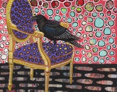 Crow on a Chair original art