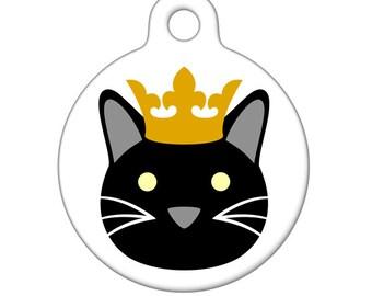 Pet ID Tag - Your Majesty Kitty Pet Tag, Dog Tag, Cat Tag, Bag Tag, Child ID Tag