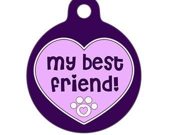 Pet ID Tag - Best Friend Pet Tag, Dog Tag, Cat Tag, ID Tag