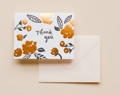Letterpress Card- Thank You