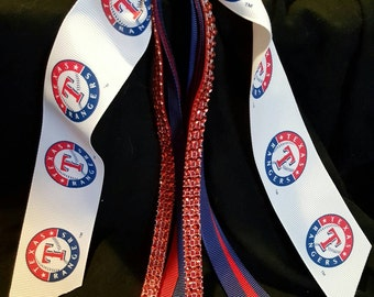 Texas Rangers Bling Hair Streamer
