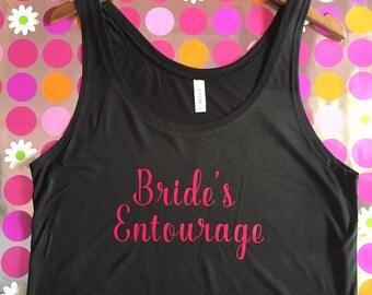 Bride's Entourage Flowy Boxy Black Tank Top