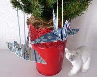 Winter Wonderland - Set of 4 Origami Ornaments - FREE Gift Box AND FREE Shipping!