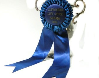 1931 Cleveland Live Stock Show Blue Ribbon Rosette