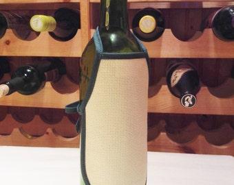 Blank Bottle Apron - Dark Green & Antique White