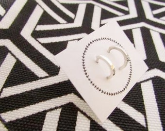Huggie stud earrings sterling silver modern studs everyday earrings posts cuff earrings