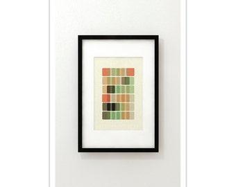 DNA III - Giclee Print - Mid Century Modern Danish Modern Minimalist Cubist Modernist Eames Abstract
