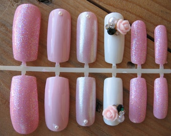 Pretty In Pink False Nail Set
