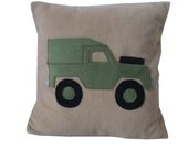 Landrover Jeep  cushion, khaki fleece